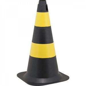 Cone-De-Sinalizacao-Com-75cm-Preto---Amarelo-Em-Polietileno-Vonder