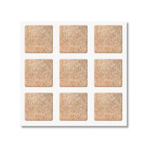 Protetor-Adesivo-de-Feltro-Quadrado-99x99mm-Marrom-Bemfixa