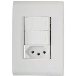 Conjunto-2-Interruptores-e-1-Tomada-Simples-Liz-4x2-2P-T-10A-250V-Branco-Tramontina