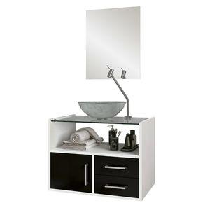Kit-Gabinete-C--Cuba-e-Espelho-45x60x40cm-Glass-Branco-Preto-Astral-Design