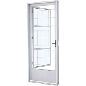 Porta-Em-Aco-Com-Postigo---Grade-Quadriculada-Vidro-Mini-Boreal-E217x87x08-Branco-Sasazaki