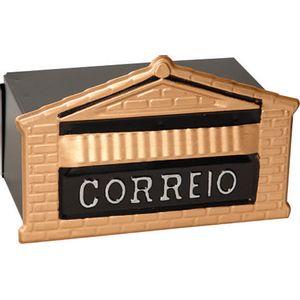 Caixa-De-Correio-Colonial-Popular-12x23x11cm-Para-Muro-Ouro-De-Minas