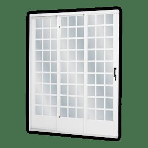 Porta-de-Correr-3F-Quadriculada-E215x160-Branco-MGM