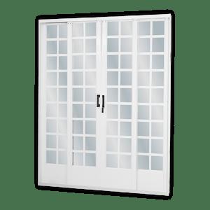 Porta-de-Correr-4F-Quadriculada-215X200CM-Branco-MGM