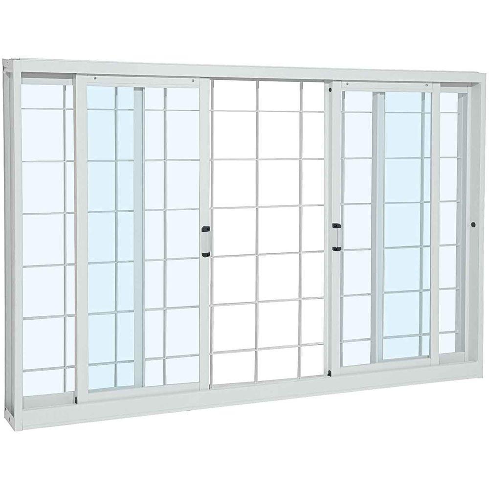 Janela-de-Correr-Aco-Pratika-4F-Grade-Quadriculada-100X12X120-Branco-Sasazaki