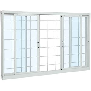 Janela-de-Correr-Aco-Pratika-4F-Grade-Quadriculada-120X12x150-Branco-Sasazaki