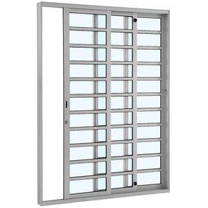 Porta-de-Correr-Aluminio-Alumifort-3F-216X125X160-Branco-Sasazaki