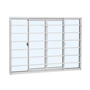 Janela-de-Correr-Aluminio-Alumislim-4F-Grade-100X76X150-Branco-Sasazaki