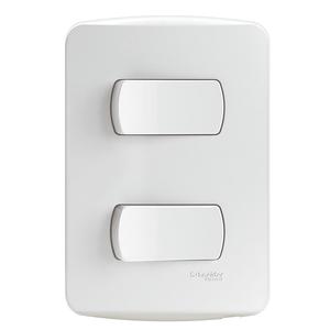 Conjunto-2-Interruptores-Simples-10A-250V-Miluz-Branco-Polar-Schneider