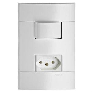 Conjunto-Interruptor-Simples-e-Tomada-10A-Lunare-Branco-Polar-Schneider