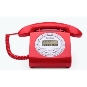 Telefone-Com-Fio-Vermelho-Intelbras
