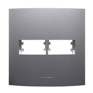 Placa-Pro-2-Modulos-Com-Suporte-Inova-4x4-Grafite-Alumbra