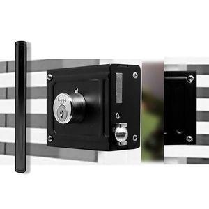 Trinco-Rolete-Com-Puxador-Para-Portao-250MM-Preto-Fosco-Haga