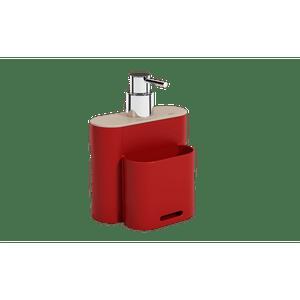 Dispenser-Flat-500ml-Vermelho-Bold-Coza