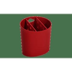 Escorredor-de-Talheres-Oval-Basic-Vermelho-Bold-Coza