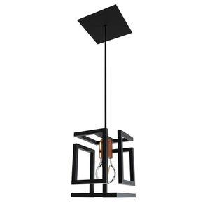 Pendente-Box-Bronze-1L-Preto-Fosco-Orluce