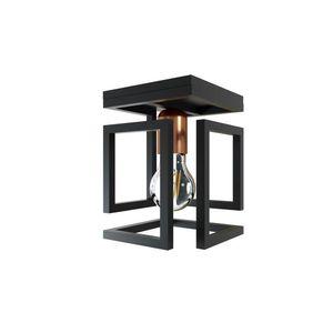 Plafon-Box-1L-Preto-Fosco-Bronze-Orluce